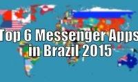 Top 6 Messenger Apps in Brazil 2015