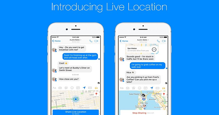Facebook Messenger lets you Share your Live Location